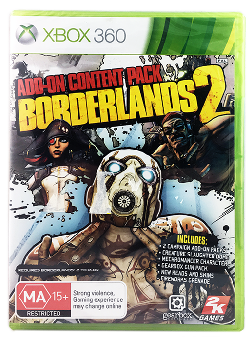 Details about Borderlands 2: Add-On Content Pack (xbox 360) Brand New &  Sealed - PAL